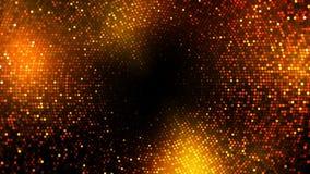 Las luces del centelleo suben al fondo del lazo del círculo ilustración del vector