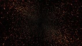Las luces del centelleo suben al fondo del lazo del círculo stock de ilustración