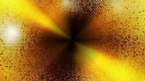 Las luces del centelleo suben al fondo del lazo del círculo Versión del oro