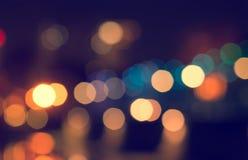 Las luces empañaron el fondo del bokeh Fotografía de archivo