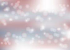 Las luces en el fondo rojo y azul Blurred de Bokeh - Vector el ejemplo, diseño gráfico útil para la bandera del web, fondo Imagen de archivo libre de regalías