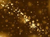 Las luces mágicas, chispa del fondo, enmascararon l Imágenes de archivo libres de regalías