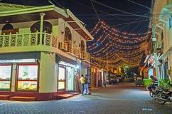 Las luces sobre la calle Foto de archivo libre de regalías