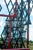 las máquinas segadoras fotografiaron por un cierre para arriba foto de archivo