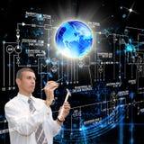 Las más nuevas tecnologías de Internet. Seguridad cibernética Imágenes de archivo libres de regalías