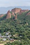 Las Médulas är ett kulturellt landskap av forntida romerskt guld- bryta som lokaliseras i regionen av El Bierzo, landskap av Leà royaltyfri foto