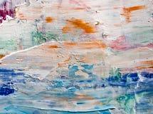 Las manchas de la pintura en lona imagen de archivo libre de regalías