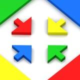 las maneras coloridas 3D se dirigen Foto de archivo