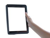 Las manos adolescentes femeninas usando la tableta toman las fotos Fotos de archivo libres de regalías