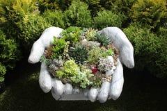las manos de la piedra Imagen de archivo