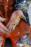 Las manos del artista Imagenes de archivo