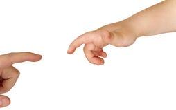 Las manos engendran e hijo Imágenes de archivo libres de regalías