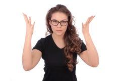 Las manos preocupantes de la extensión del adolescente y no conocen qué hacer foto de archivo