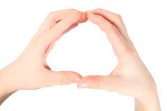 Las manos representan la letra O del alfabeto imagenes de archivo