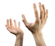 Las manos se abren Foto de archivo libre de regalías
