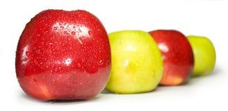 Las manzanas rojas y verdes Fotografía de archivo libre de regalías