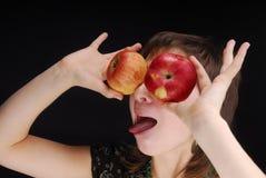 Las manzanas tienen gusto de ojos Fotografía de archivo libre de regalías