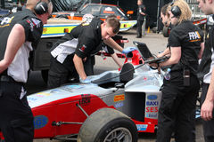 Las marcas de fábrica traman - el campeonato de Palmer Audi de la fórmula Foto de archivo libre de regalías
