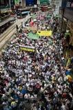 Las marchas 2011 de Hong-Kong el 1 de julio Foto de archivo