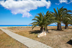 Las Marinas beach in Denia at alicante spain Stock Images