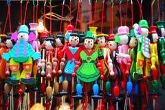 Las marionetas de madera Fotos de archivo