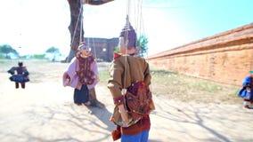 Las marionetas religiosas en Bagan, Myanmar metrajes
