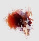 Las mariposas pintan salpican Imagenes de archivo