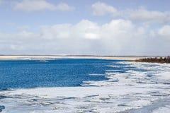 Las masas de hielo flotante de hielo marino blancas Fotografía de archivo libre de regalías