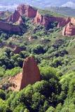 Las Medulas古老罗马矿,联合国科教文组织 免版税库存照片
