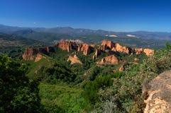 Las Medulas - ancient Roman gold mines. UNESCO World heritage. Castile and Leon. Spain.  royalty free stock photos