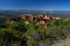 Las Medulas - ancient Roman gold mines. UNESCO World heritage. Castile and Leon. Spain.  royalty free stock photo