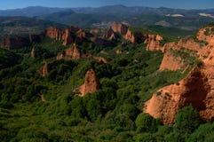 Las Medulas - ancient Roman gold mines. UNESCO World heritage. Castile and Leon. Spain.  stock photography