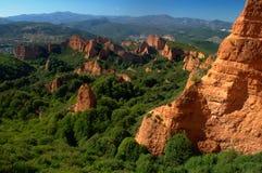 Las Medulas - ancient Roman gold mines. UNESCO World heritage. Castile and Leon. Spain.  royalty free stock image
