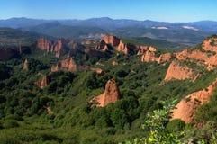 Las Medulas - ancient Roman gold mines. UNESCO World heritage. Castile and Leon. Spain.  royalty free stock photography