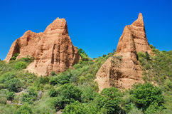 Las Medulas, ancient roman mines in Leon, Spain. Stock Images