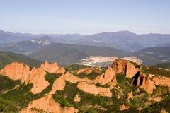 Las medulas Berge Spanien Lizenzfreie Stockfotos