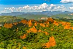 Las Medulas - Castille и лев - Испания стоковое фото