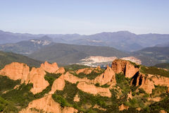 las medulas góry Hiszpanii Zdjęcia Royalty Free