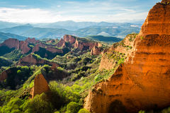 Las Medulas Landschaft Stockfotos