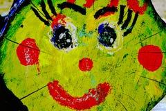 Las mejillas brillantes de la frente de la nariz de los labios de los ojos de la cara de las emociones de la pequeña de la natura ilustración del vector