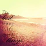 Las mejores cosas en vida no son cosas Fotografía de archivo libre de regalías