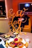 Las mejores insignias del día nunca Foto de archivo libre de regalías
