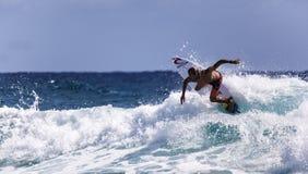 Las mejores personas que practica surf Imagen de archivo libre de regalías