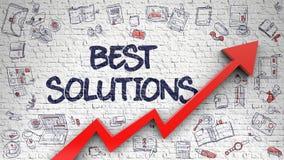 Las mejores soluciones dibujadas en la pared blanca 3d Fotos de archivo