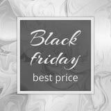 Las mejores tarifas de Black Friday Imágenes de archivo libres de regalías