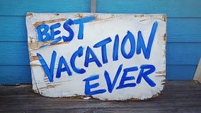 Las mejores vacaciones nunca foto de archivo