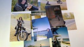 Las memorias de Phot vuelan lejos del collage en el fondo blanco desaparecen almacen de video
