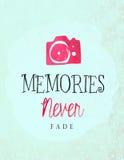 Las memorias nunca se descoloran Foto de archivo