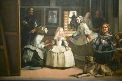 Las Meninas por Velázquez segundo as indicações do museu de Prado, museu de Prado, Madri, Espanha Foto de Stock Royalty Free