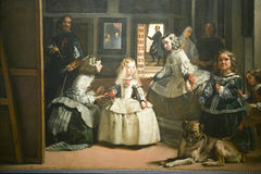 Las Meninas by Velazquez as shown in the Museum de Prado, Prado Museum, Madrid, Spain Royalty Free Stock Photo